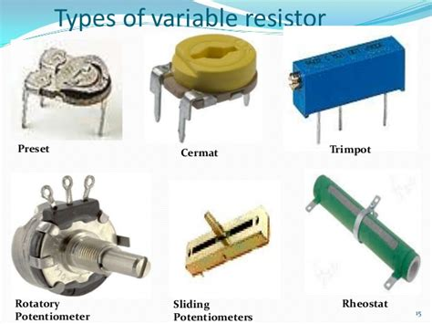 types of resistors fixed and variable new electronics slides