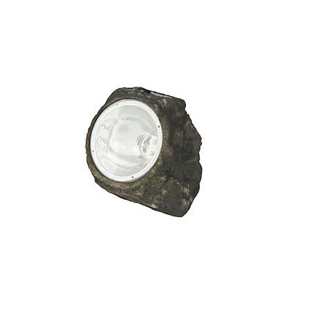 Blooma Dark Grey Solar Powered Led Rock Light Solar Lights B And Q