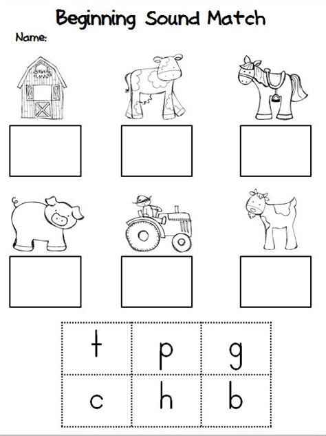 Beginning Sounds Cut And Paste Worksheets by Initial Sounds Worksheets For Kindergarten Search