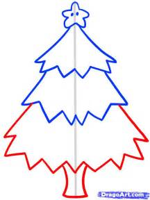 how to draw a christmas tree for kids step by step