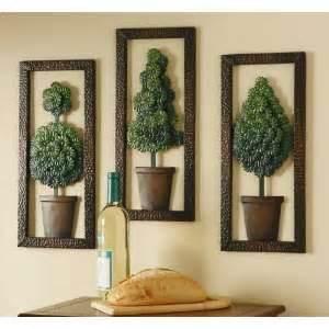 metal wall decor 4 pcs set