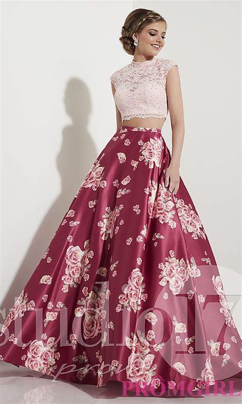 Set 2in1 Longdress wine pink two prom dress with print pandora prom dresses and pandora jewelry