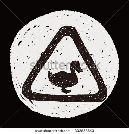 doodle crossing sign duck crossing sign warning stock photos images
