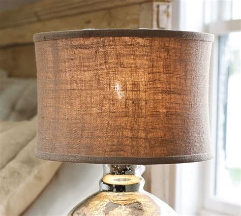 burlap flared drum l shade pottery barn