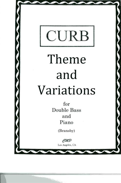 definition theme and variations in music curb theme and variations for db pno arr bransby