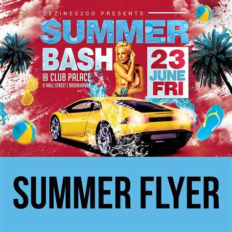 Summer Bash Flyer Template Design Psd Mixtapecovers Net Bash Flyer Template