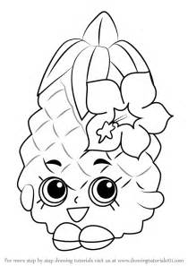 learn how to draw pineapple crush from shopkins shopkins