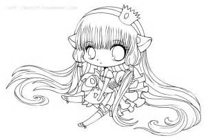 chibi coloring pages chibi chii coloring page copic