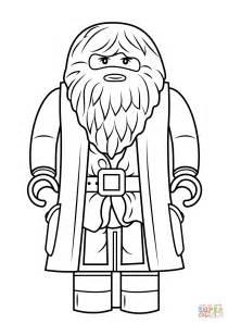 lego rubeus hagrid minifigure coloring page free