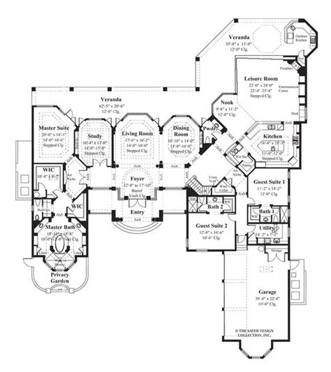 sater house plans sater design collection s 6925 quot la ventana quot floor plan