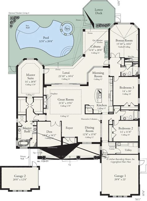 amelia floor plan amelia 1124 traditional floor plan ta by arthur