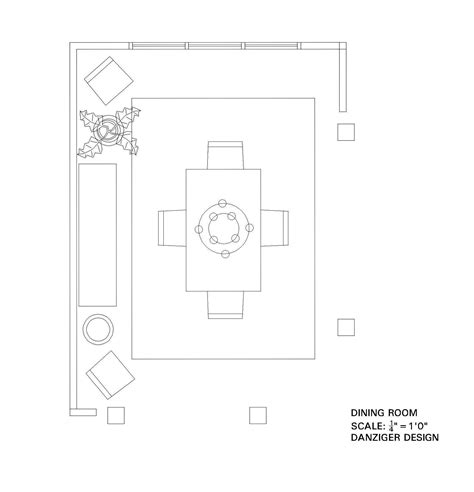 Dining Room Floor Plan by Danziger Design Maryland Interior Designer Shares The