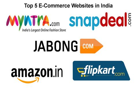 best e commerce top five e commerce websites in india