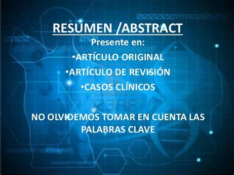 Resumen Y Abstract by Pautas Para Elaborar Resumen Abstract En Trabajos De