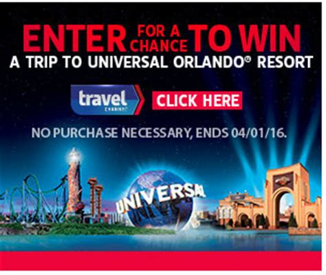 Trip Sweepstakes And Giveaways - win 5 000 and a trip to universal studios florida go sling