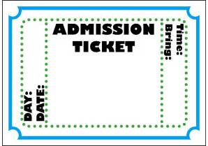 Tickets Template by Free Printable Admission Ticket Template Clipart Best
