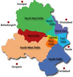 us map zone wise geographical map of new delhi