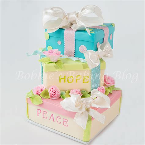 5 new year box whimsical new year 2014 gift box cake 5thavenuecakedesigns