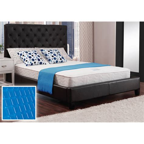 Box Springless Bed Frame Walmart Mattress In A Box Mainstays Black Metal Arm