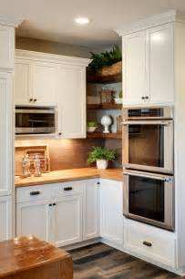 Kitchen Cabinet Corner Shelf by 65 Ideas Of Using Open Kitchen Wall Shelves Shelterness