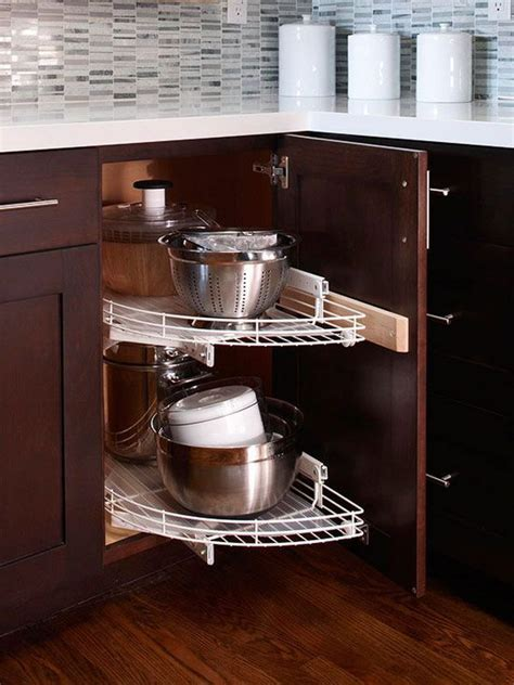 Corner Storage Cabinets For Kitchen Kitchen Corner Cabinet Storage Ideas 2017