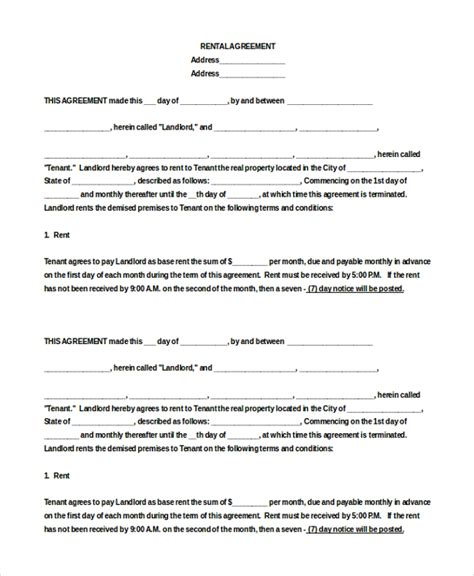 Apartment Rental Agreement 8 Free Word Pdf Documents Download Free Premium Templates Free Apartment Lease Agreement Template
