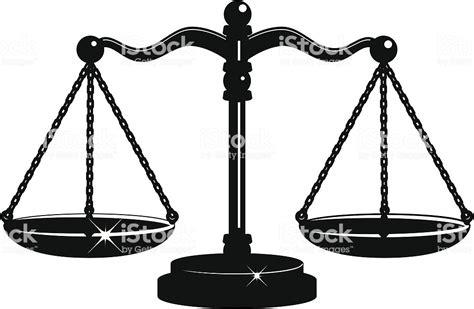Balanza De La Justicia En Blanco Y Negro Illustracion ... Law Scale Of Justice