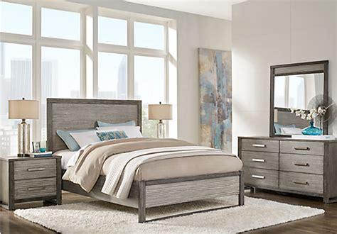 abbott gray  pc king panel bedroom contemporary