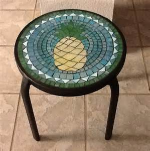 Small Mosaic Patio Table by Small Mosaic Pineapple Table For Patio Or By