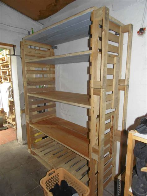 big pallet organization rack  scrap wood  pallets