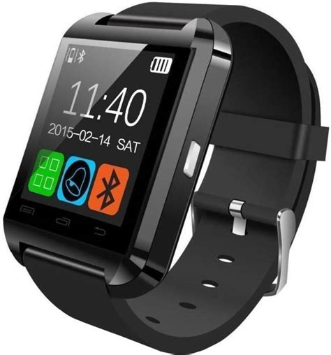 Smartwatch U8 Original Black bingo u8 smartwatch price in india buy bingo u8