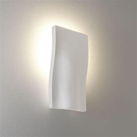 S Light by Astro Lighting 0978 S Light White Plaster Wall Light