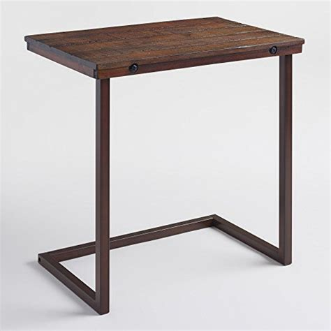 Slide Sofa Table As Seen On Tv by World Market Wood Laptop Table For Recliner And Sofa