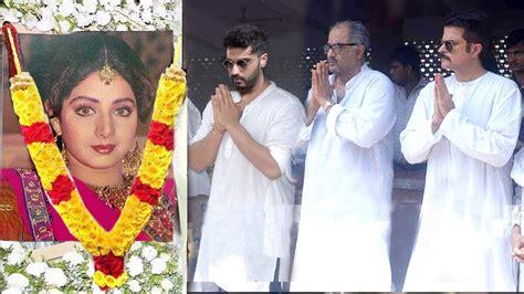 sridevi house video bollywood celebs visit sridevi s house in mumbai arjun