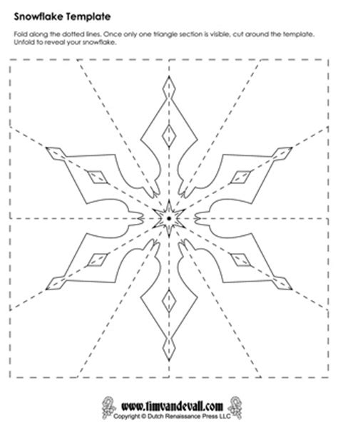 printable snowflake template pdf paper snowflake templates for christmas holiday crafts