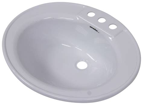 rv bathroom sinks better bath 17 quot x 20 quot oval lavatory sink white lippert