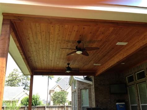stained beadboard ceiling perfect design patios