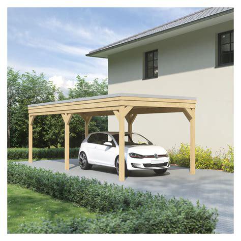 leimholz carport carport flachdach leimholz holz 3x8 m 300x800 cm