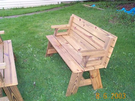 how to build a picnic table bench convertible picnic table plans free wood patio furniture