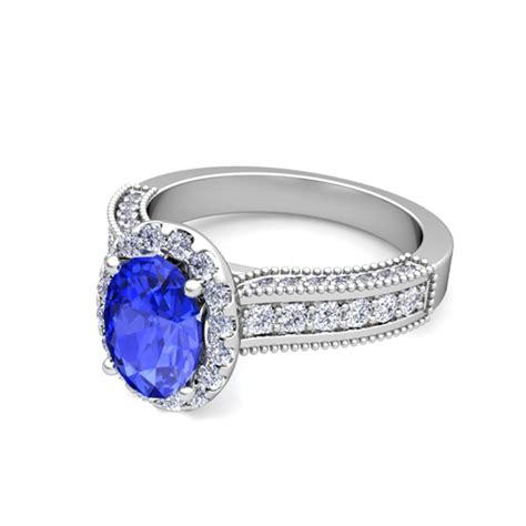 heirloom ceylon sapphire engagement ring 18k gold