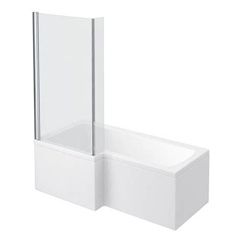 l shaped bath shower screen milan 1700mm l shaped shower bath with screen panel