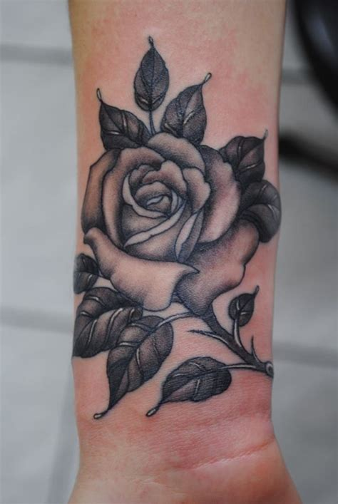 black rose tattoo on wrist 25 best ideas about black tattoos on