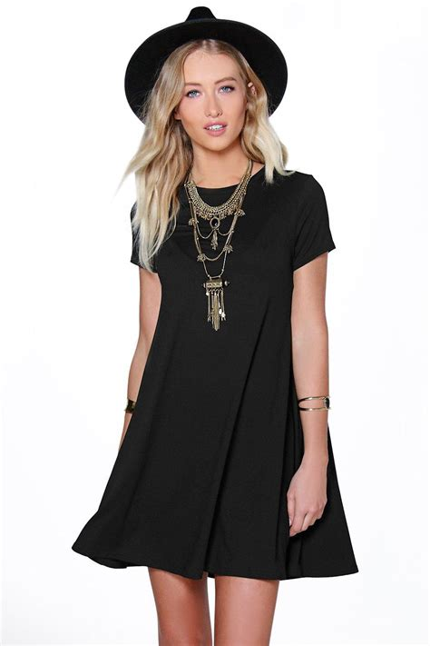 swing dress open back swing dress at boohoo
