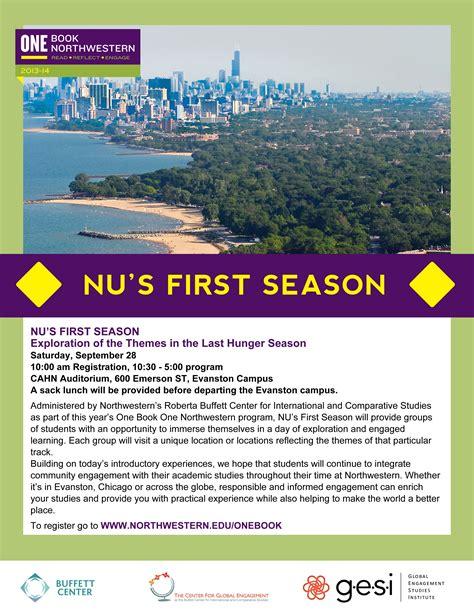 first facts seasons 1409375773 events one book one northwestern northwestern university