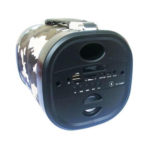 Speaker Portable Bluetooth Advance jual advance tp 700bt army portable bluetooth speaker hitam abu harga kualitas