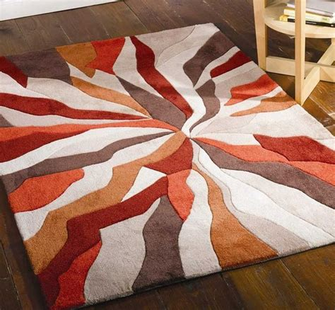 Modern Rug Sale Splinter Burnt Orange Rugs Modern Rugs Rugs Orange Rugs Modern Rugs And Modern
