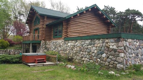 lakefront log home with homeaway waterfront lakefront log cabin slps 30 to 48 vrbo