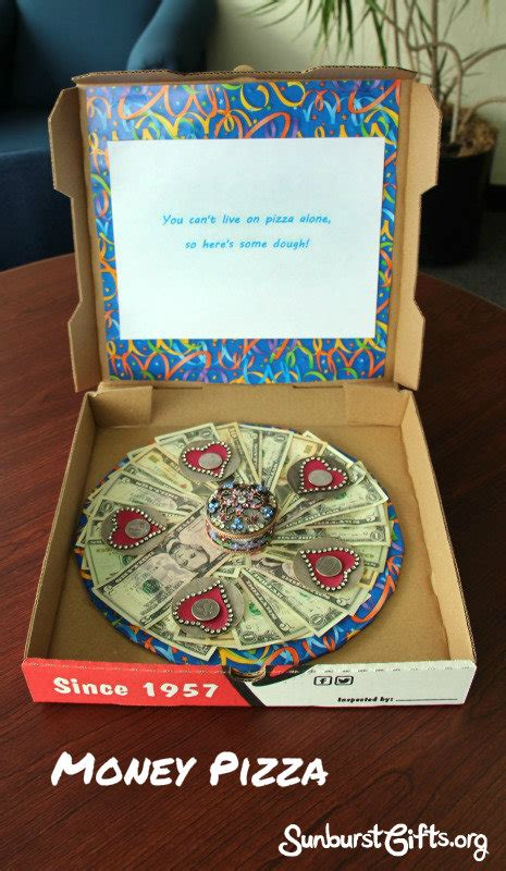 quot here s some dough quot pizza box money gift thoughtful