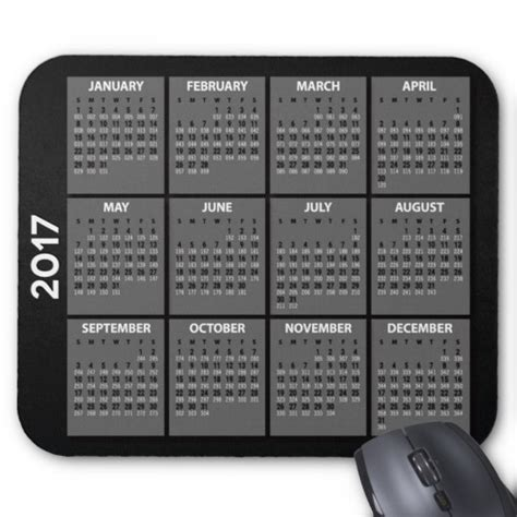 Calendario Juliano 2017 2017 Calendario Mousepad Con La Fecha Juliana Alfombrilla