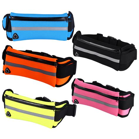 Waterproof Sports Belt With 4 Pockets Hitam Kecil waterproof outdoor sports cycling running fitness pack